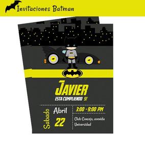 Invitación Tarjetas De Cumpleaños Batman Imprimible