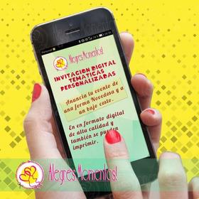 Invitación Temática Con Diseño  Personalizado Para Whatsapp