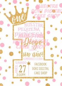 Invitación Tipo Gif De Princesa Un Año