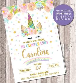 Invitacion Unicornio Digital