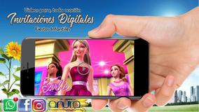 Tarjetas De Invitacion Barbie Invitaciones Invitaciones Y