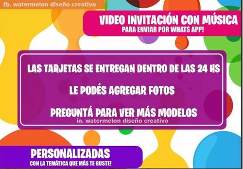 invitación video tarjeta digital animada musical fortnite 8