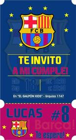 Invitacion Virtual Cumple Futbol Barcelona P Redes Sociales
