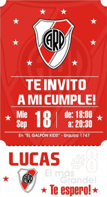 Invitacion Virtual Cumple Futbol River Platep Redes Sociales