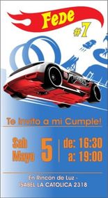 Invitacion Virtual Cumple Hotwheels P Redes Sociales