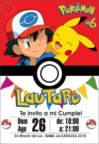 invitacion virtual cumple pokemon para redes sociales