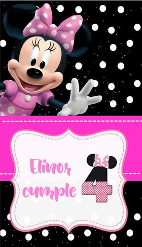 invitación  virtual  video de minnie mouse