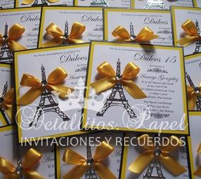 Invitaciones 15 Años Bodas Bautizo Paris
