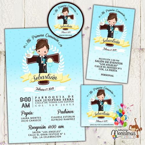 invitaciones 1era comunión kit imprimible personalizado vbf