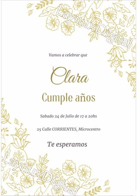 Invitaciones 30 Años 50 Años 15 Años Diseños Elegantesx20 280 00