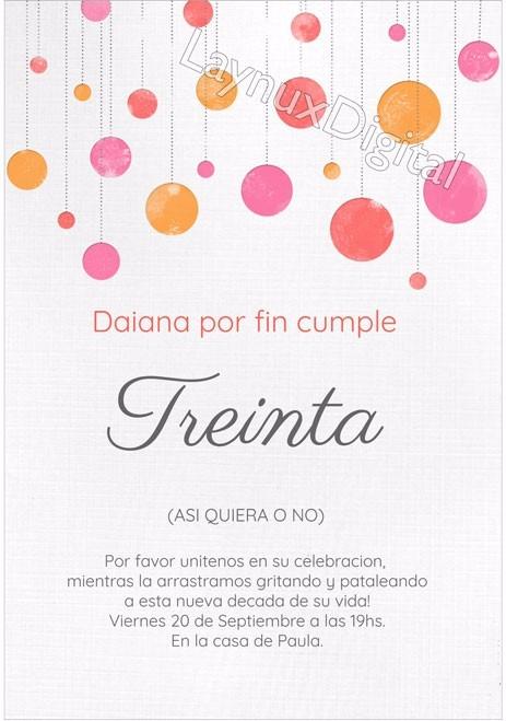 Invitaciones 30 Años 50 Años 15 Años Diseños Elegantesx20 280