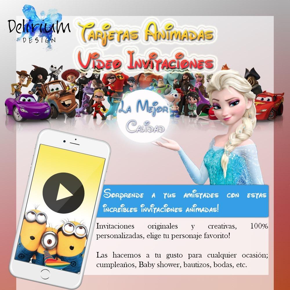 Invitaciones Animadas Video Invitaciones Whatsapp Disney