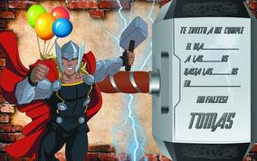 Invitaciones Avengers Infantiles Cumple Listas Para Imprimir