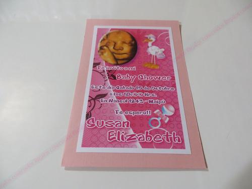 invitaciones baby shower, elegantes y modernas.