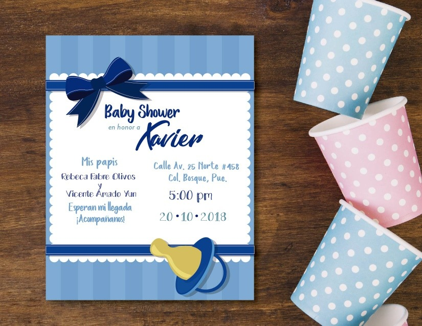 Invitaciones Baby Shower Niño - $ 10.00 en Mercado Libre