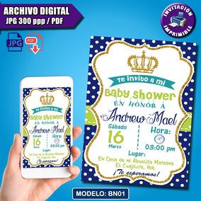 Invitaciones Baby Shower Para Niño Digitales Personalizadas