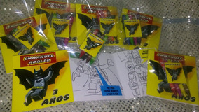 Invitaciones Batman Lego Para Colorear Con 4 Crayolas
