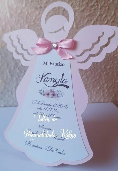 Invitaciones Bautizo ángel Bolo