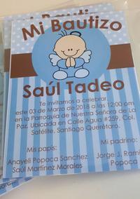 Tarjetas De Invitacion Para Bautizo Invitaciones Y