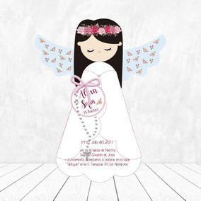 Invitaciones Bautizo Presentación 1ra Comunión Angel 30 Pz