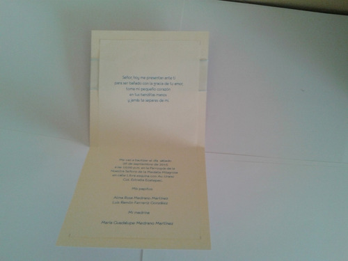 invitaciones bautizo, presentación