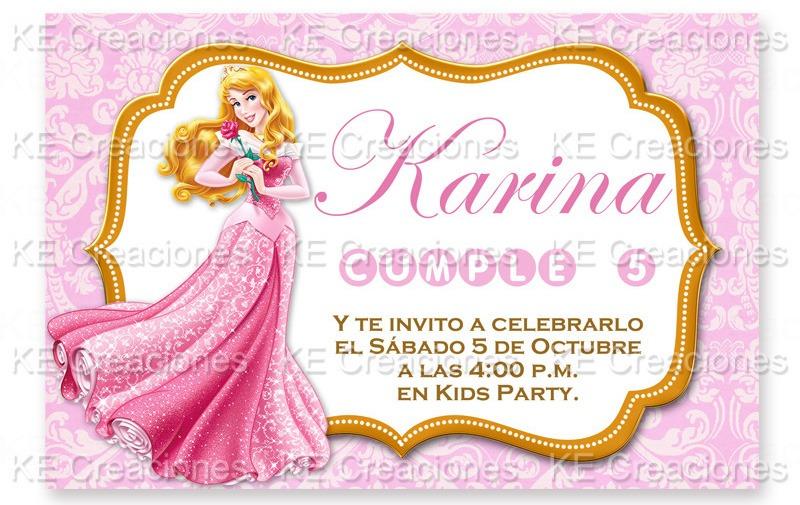 Invitaciones Bella Durmiente Princesas Disney Kit Imprimible ...