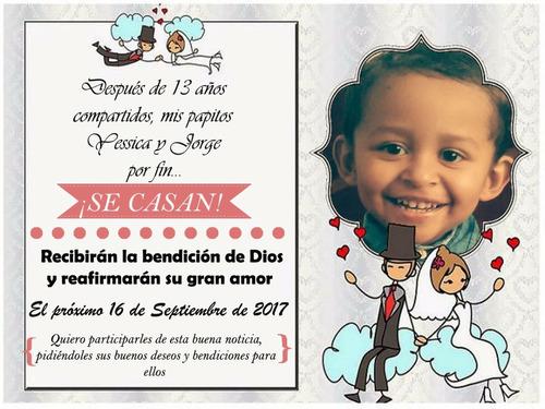 invitaciones boda cumpleaños 15 años bautizo