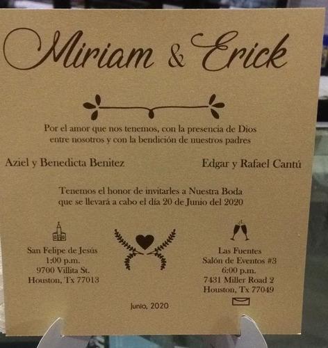 invitaciones boda economico de 10 a 200 invitas grandes