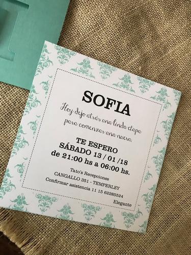 invitaciones caladas 15 años casamiento bautismo
