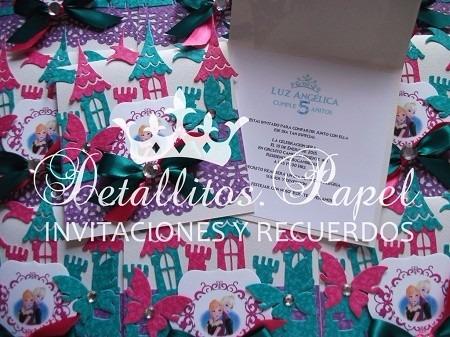 invitaciones castillo y recuerdos princesita sofía, frozen