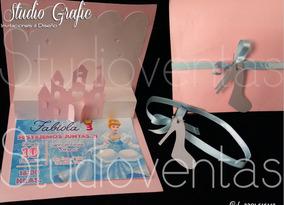 Invitaciones Cenicienta Bautizo Xv Años Princesa 10pzas