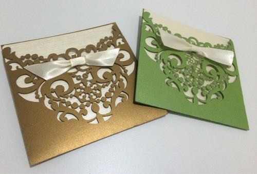 invitaciones corte laser bodas xv años y 100 pases gratis