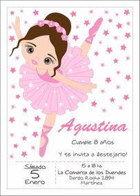 Invitaciones Cumpleaños Bailarina Imprimible