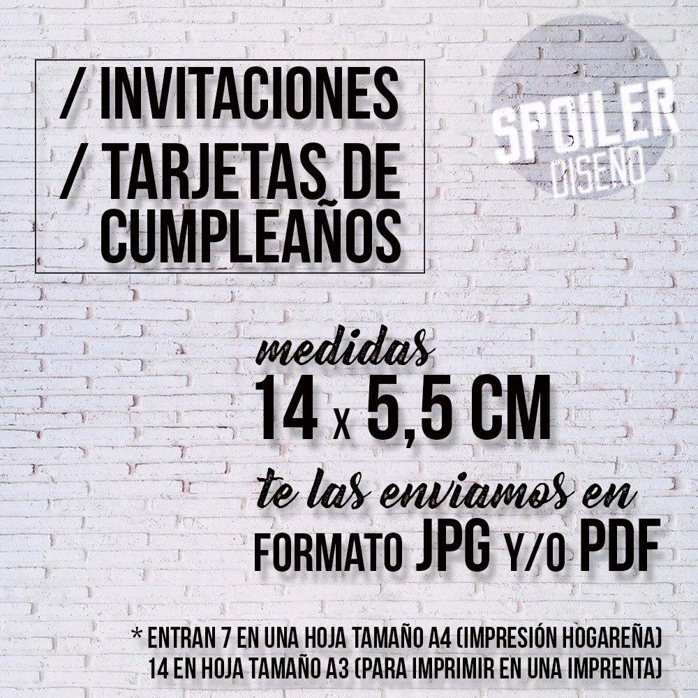 Invitaciones Cumpleaños Infantiles Para Imprimir Jpg Pdf