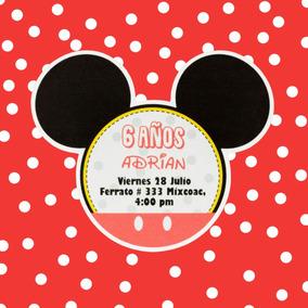Invitaciones Cumpleaños Mickey Mouse Económicas 20 Pzs