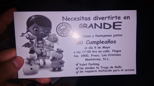 invitaciones cumpleaños personalizadas tamaño postal