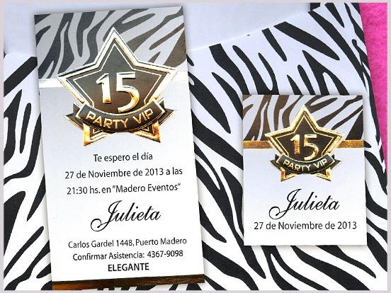 Invitaciones De 15 Animal Print Cebra Blanco Y Negro