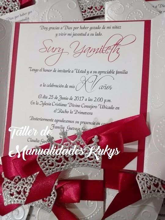 Invitaciones De 15 Años Princesa