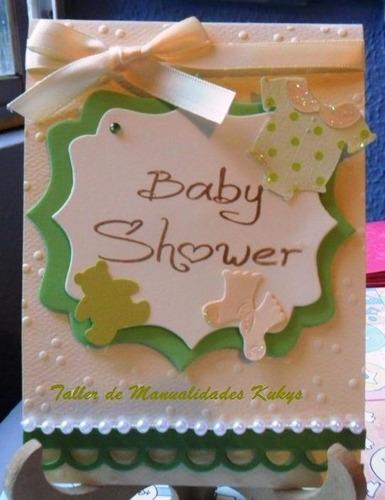 invitaciones de baby shower  y bautizo tiernas