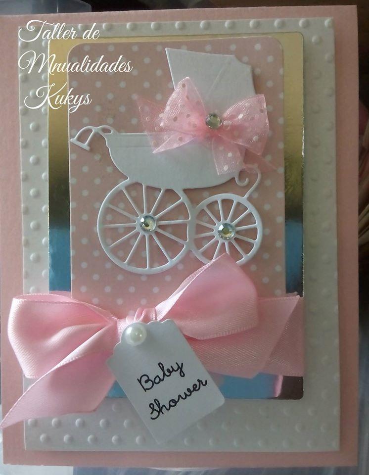 Invitaciones de baby shower y bautizo tiernas en - Cosas hechas a mano para vender ...