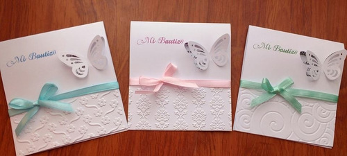invitaciones de bautizo detalle mariposa