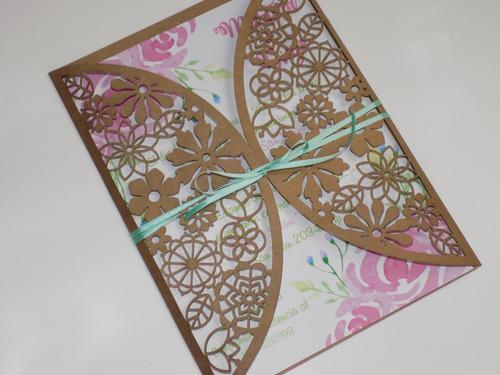 invitaciones de boda caladas tarjetas de casamiento