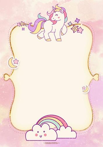 invitaciones de cumple unicornios