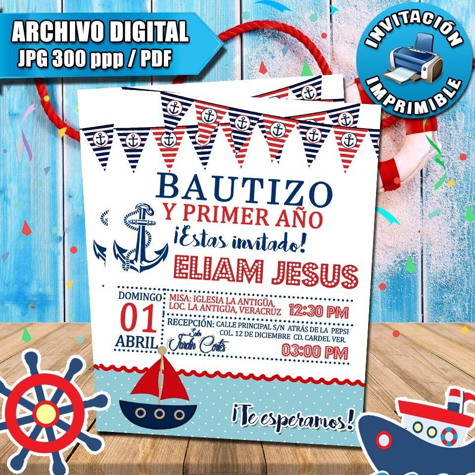 0e5aeff65bd17 invitaciones de cumpleaños digitales personalizadas marinero. Cargando zoom.