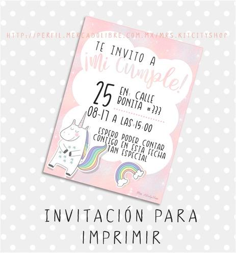 Invitaciones De Cumpleaños Para Imprimir Cuatro Diseños