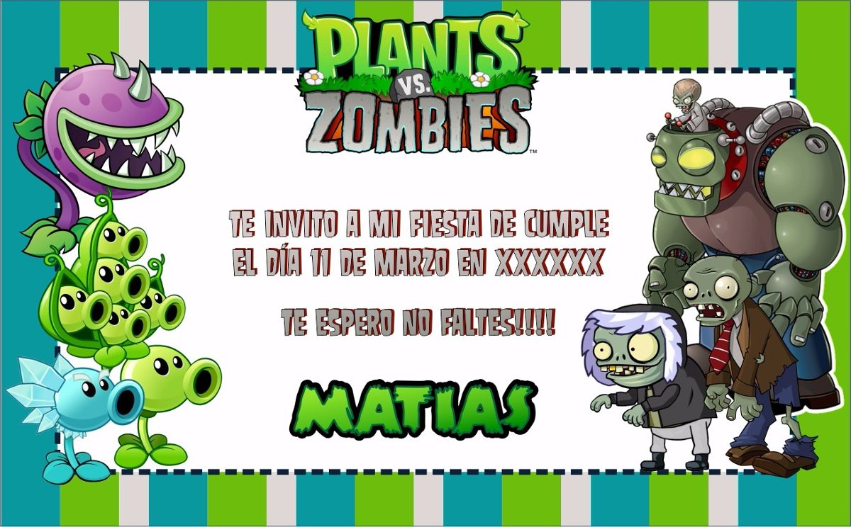 Cumpleanos Zombie Vs Plantas