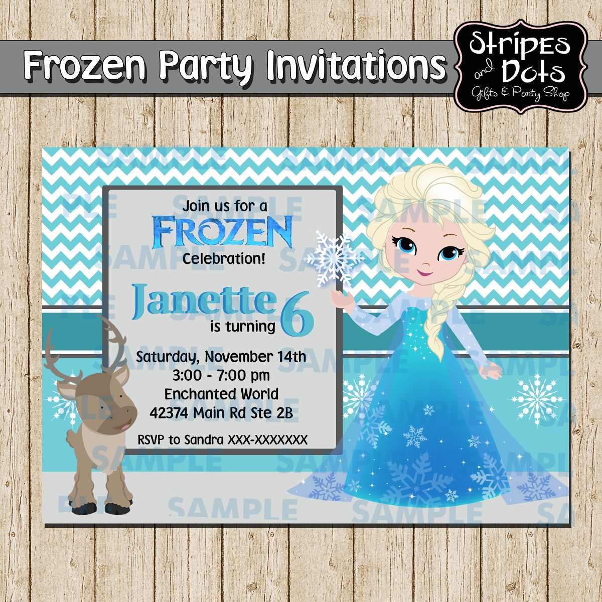 invitaciones de frozen frozen party invitaciones de elsa