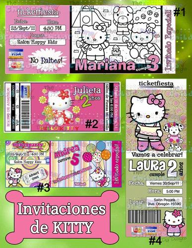 invitaciones de kitty #1-invitaciones infantiles