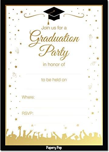 invitaciones de la fiesta de graduaci u00f3n de papery pop 2018