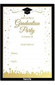 Invitaciones De La Fiesta De Graduacion De Papery Pop 2018 C